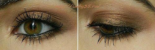 Бронзовый вечерний макияж