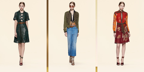 Gucci женская одежда весна-лето 2015