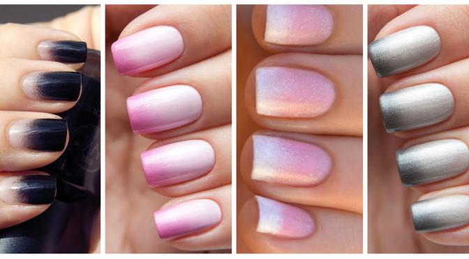 Как самостоятельно сделать омбре на ногтях